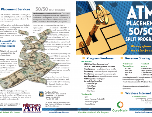 FirstCard ATM 50/50 Program Brochure